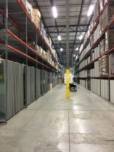Photo showing client's managed inventory in Colonial Systems warehouse