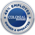 colonial employee owned & operated badge